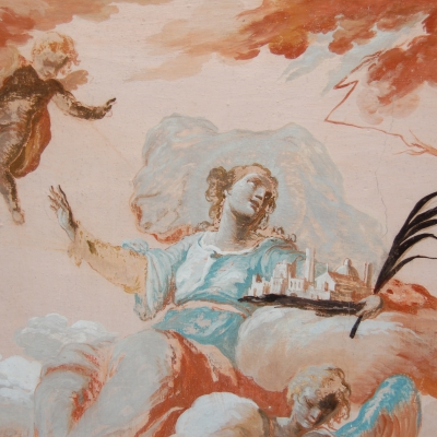 Affresco di Santa Barbara